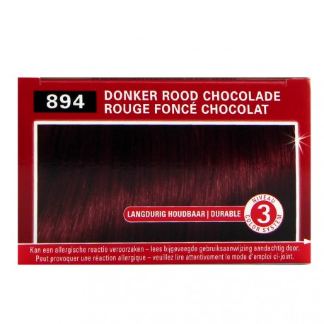 Schwarzkopf - Coloration Brillance 894 Rouge fonçé chocolat