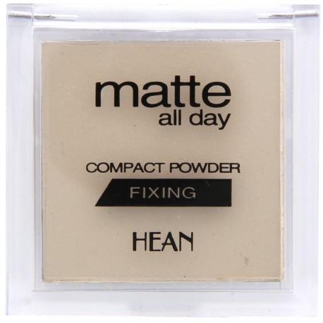 Hean - Poudre Compacte Mate All Day Fixante - N°501 Translucide - 9 g