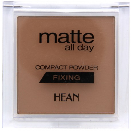 Hean - Poudre Compacte Mate All Day Fixante - N°504 Beige - 9 g