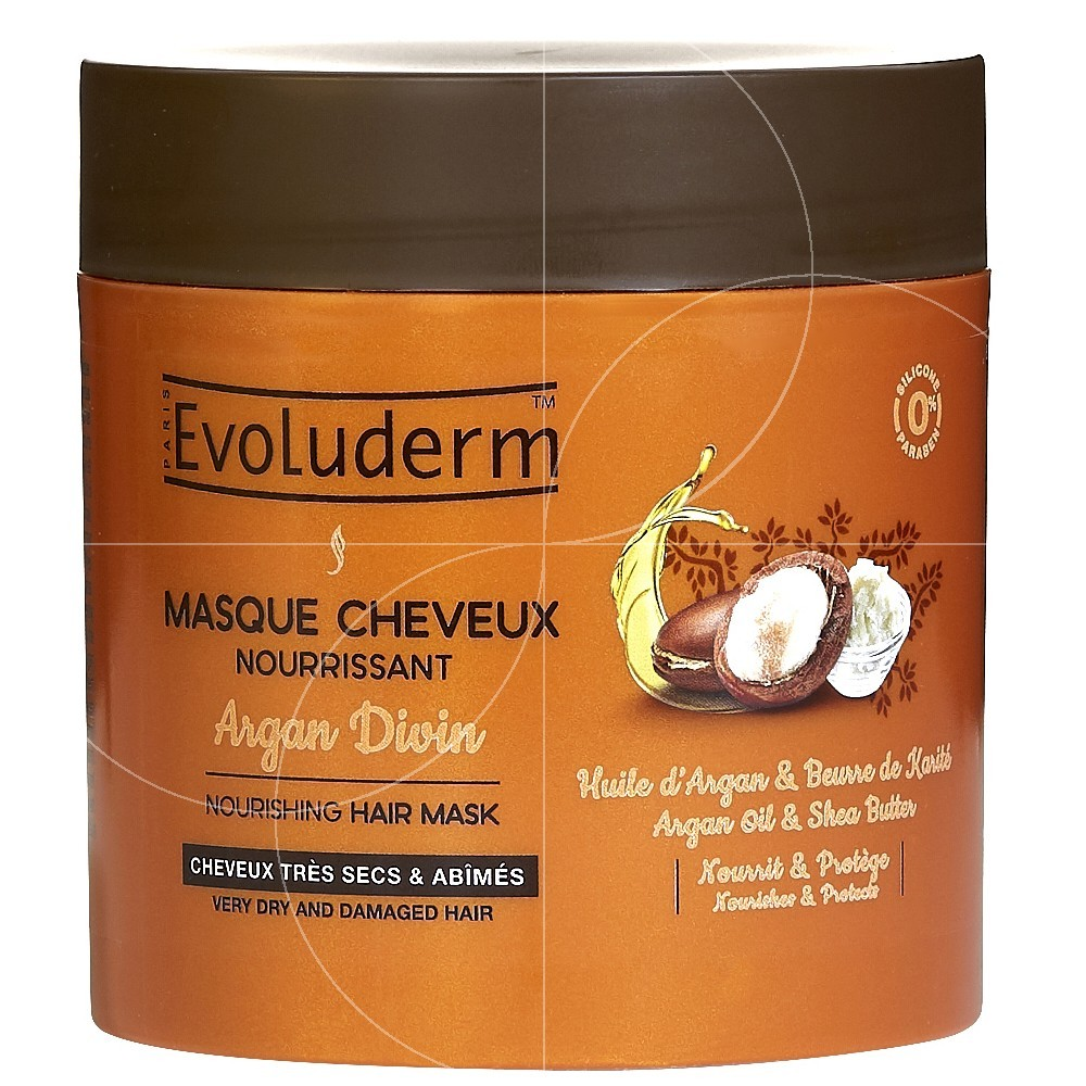 evoluderm masque cheveux nourrissant argan divin 500ml. Black Bedroom Furniture Sets. Home Design Ideas