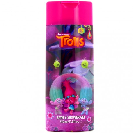 Dream Works - Les trolls Gel douche / Bain moussant parfum framboise - 350ml