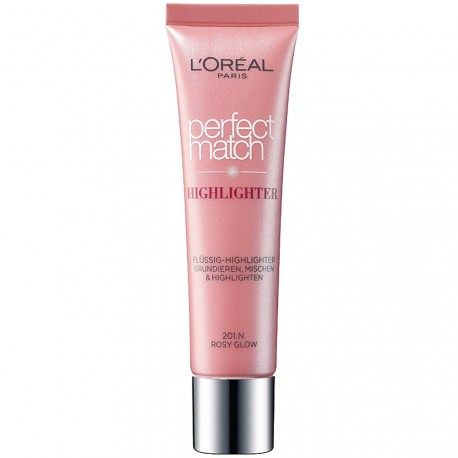 L'Oréal - Accord Parfait Highligher Fluide - 201.N Eclat Rosé - 30 ml