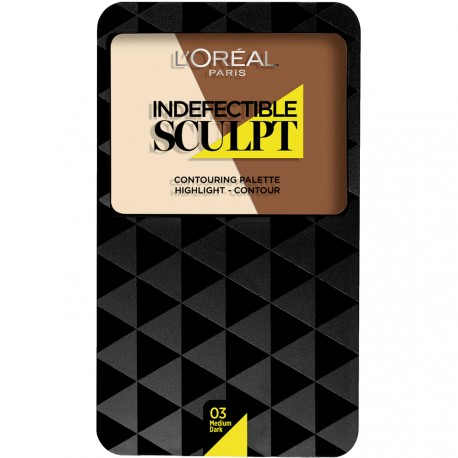 L'Oreal - Indefectible sculpt Palette Contouring 03 medium dark
