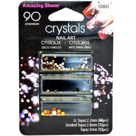 Amazing shine - Strass Décoration Ongles Topaz - 90 pièces