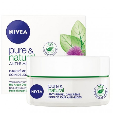 Nivea - Pure & natural Soin de jour Anti rides - 50ml