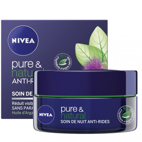 Nivea - Pure & natural Soin de nuit Anti rides - 50ml