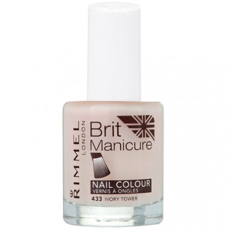 Rimmel London - Brit manicure Vernis à ongles 433 Ivory tower - 12ml
