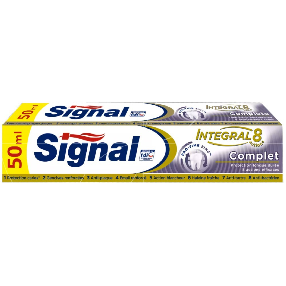 Signal - Dentifrice Integral 8 actions White - 50ml