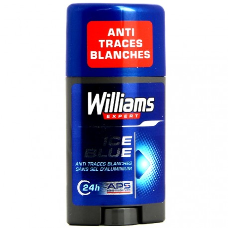 Williams - Déodorant Stick Anti Traces Blanches 24h Ice Blue - 75 ml