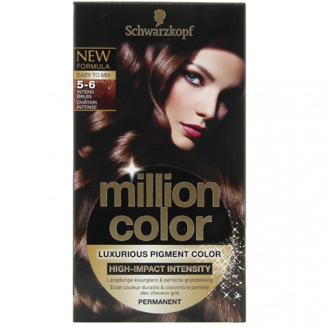 Schwarzkopf - Coloration Million Color 5.6 Châtain Intense