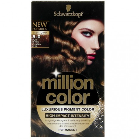 Schwarzkopf - Coloration Million Color - 5.0 Châtain Pur
