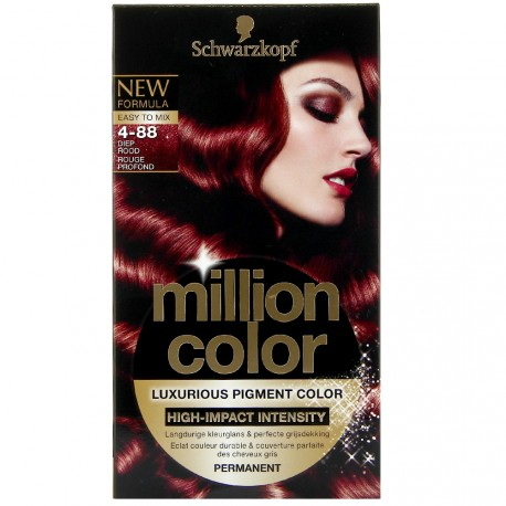 Schwarzkopf - Coloration Million Color - 4.88 Rouge Profond