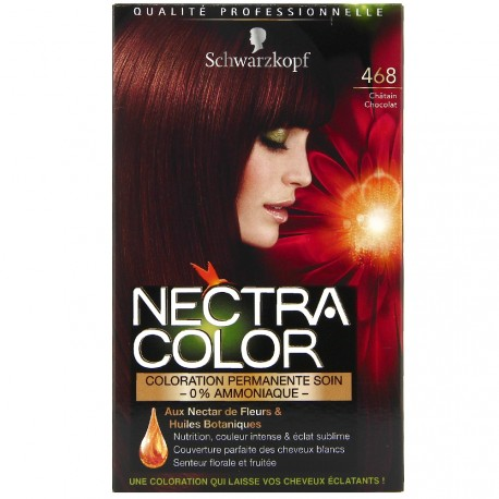 Schwarzkopf - Coloration Nectra Color - 468 Châtain Chocolat