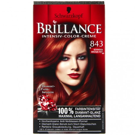 Schwarzkopf - Coloration Brillance 843 Rouge Cuivré