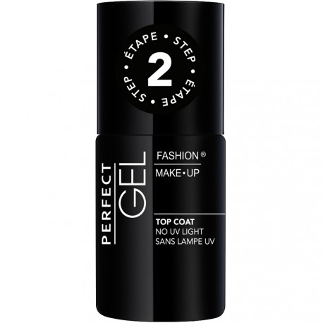 Fashion Make-Up - Perfect Gel Top Coat Etape 2 Sans Lampe UV - 10ml
