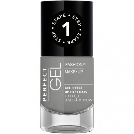 Fashion Make-Up - Perfect Gel Vernis Etape 1 n°22 Graphite - 10ml
