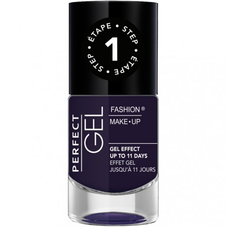 Fashion Make-Up - Perfect Gel Vernis Etape 1 n°20 Deep purple - 10ml