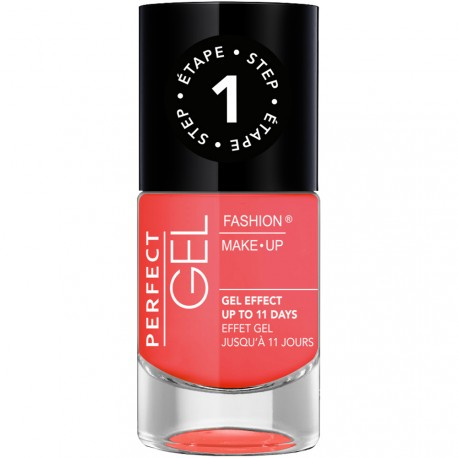 Fashion Make-Up - Perfect Gel Vernis Etape 1 n°16 Corail - 10ml