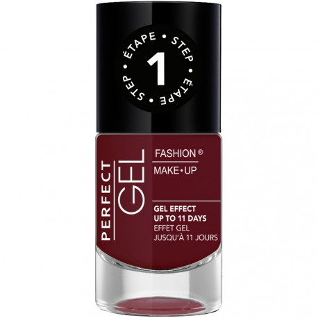Fashion Make-Up - Perfect Gel Vernis Etape 1 n°10 Grenat - 10ml