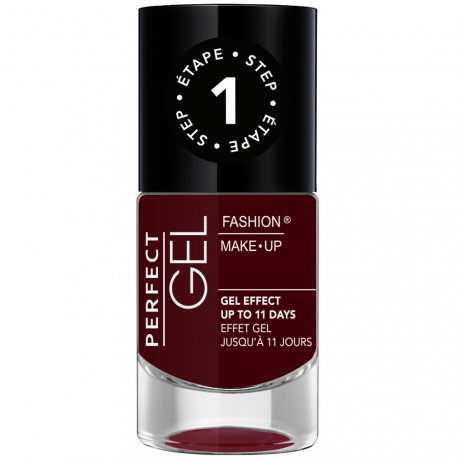 Fashion Make-Up - Perfect Gel Vernis Etape 1 n°09 Red Wine - 10ml