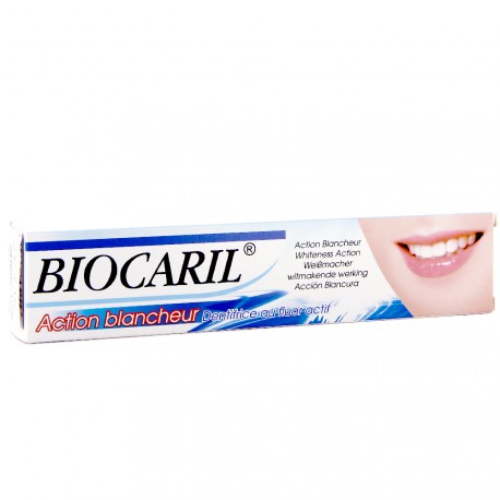 Biocaril - Action Blancheur - Dentifrice au fluor actif - 75ml