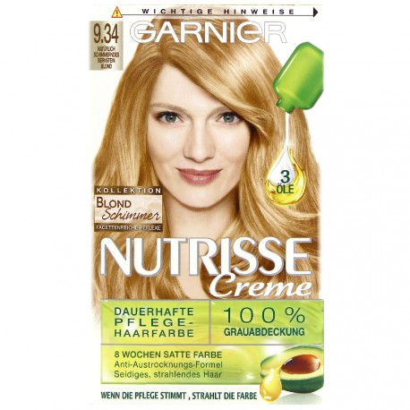 Garnier - Coloration Permanente nutrisse crème - 9.34 Or scintillant
