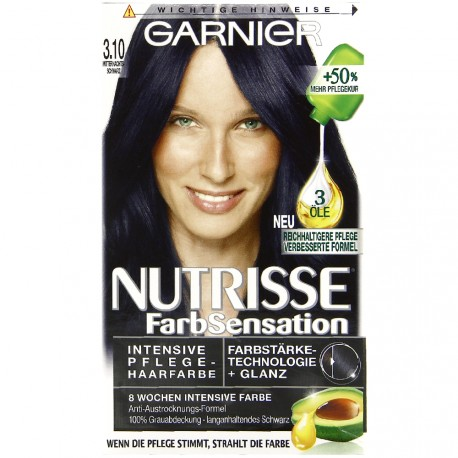 Garnier - Coloration Permanente nutrisse - 3.10 Noir nuit