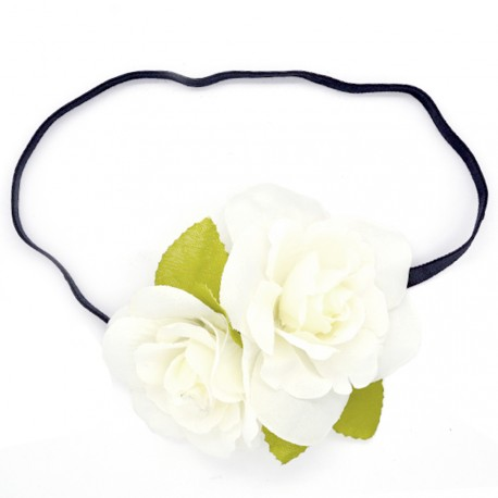 My Accessories - Headband à Fleurs Blanches