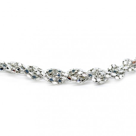 My Accessories - Headband Tresse métallique 01 Argent