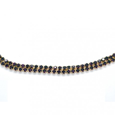 My Accessories - Headband en Strass 03 Or et violet