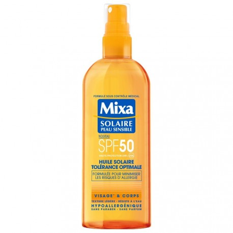 Mixa solaire - Huile solaire tolérance optimale SPF50 - 150ml