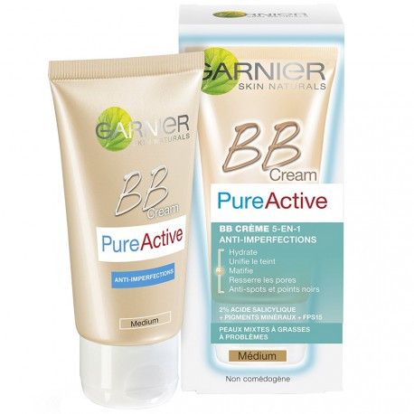 Garnier skin active - BB crème pure active 5 en 1 anti-imperfections Médium - 50ml