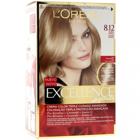 L'Oréal - Coloration Excellence Age Perfect crème nuancée 8.12 Frosted beige blonde
