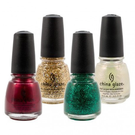 "China Glaze - Kit ""Tis the Season"" - Vernis à ongles laque - 4 x 9,6 ml"