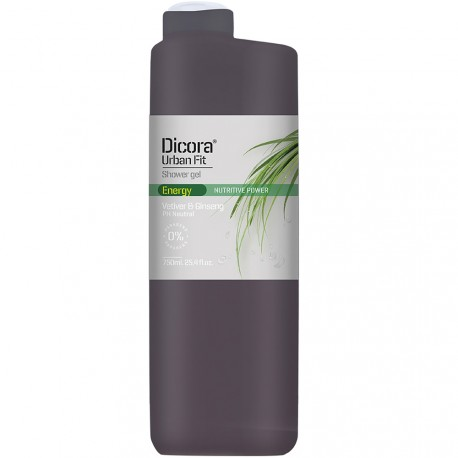 Dicora® Urban Fit - Gel douche Vetiver & Ginseng - 750ml