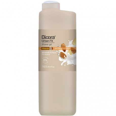Dicora® Urban Fit - Gel douche Amande & Noix - 750ml