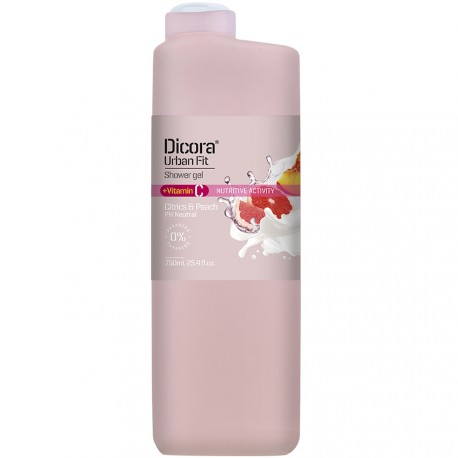 Dicora® Urban Fit - Gel douche Citron & Pêche - 750ml