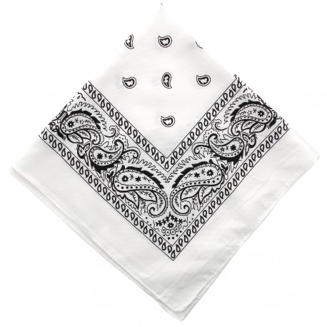 New and Boss - Bandanas Blanc carré - 52cm