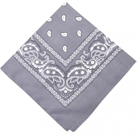 New and Boss - Bandanas Gris carré - 52cm
