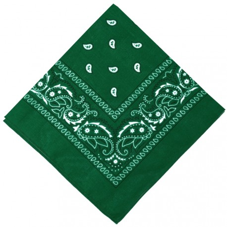 New and Boss - Bandanas Vert carré - 52cm