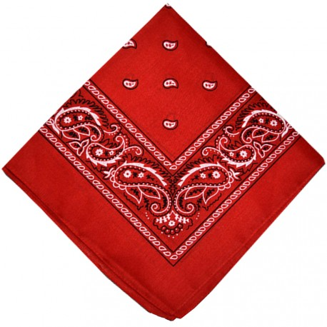 New and Boss - Bandanas Rouge carré - 52cm