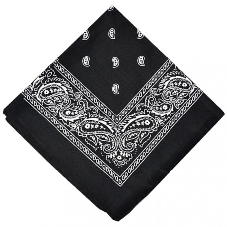 New and Boss - Bandanas Noir carré - 52cm