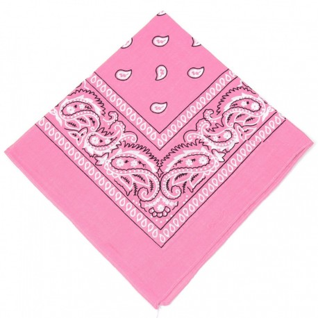 New and Boss - Bandanas Rose carré - 52cm