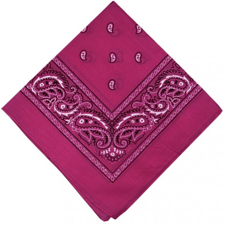 New and Boss - Bandanas Fushia carré - 52cm