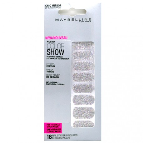 Gemey Maybelline - Color show stickers Ongles Chic Miror - 020 Glass slippers