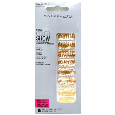 Gemey Maybelline - Color show stickers Ongles Chic Miror - 016 Gold Flake