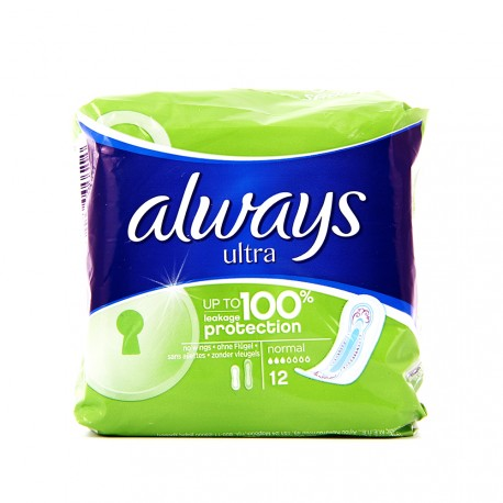 Always Ultra - Serviettes hygiéniques Normal - paquet de 12