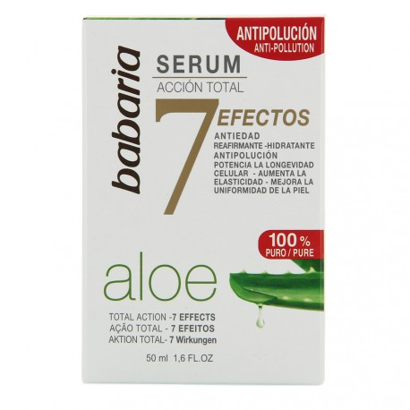 Babaria - Sérum Action Totale à l'aloe vera - 7 effets - 50 ml