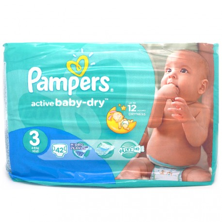 Pampers Baby Dry - 42 Couches - Taille 3