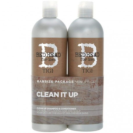 Bed Head Tigi® - Pack Clean It up shampooing & Après shampooing Cheveux Sains 2x750ml
